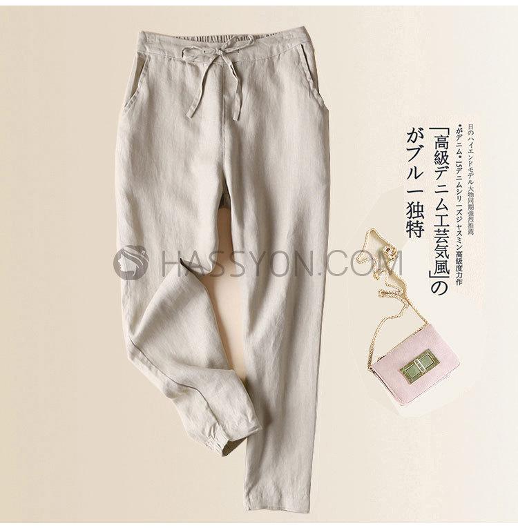 96002棉麻裤